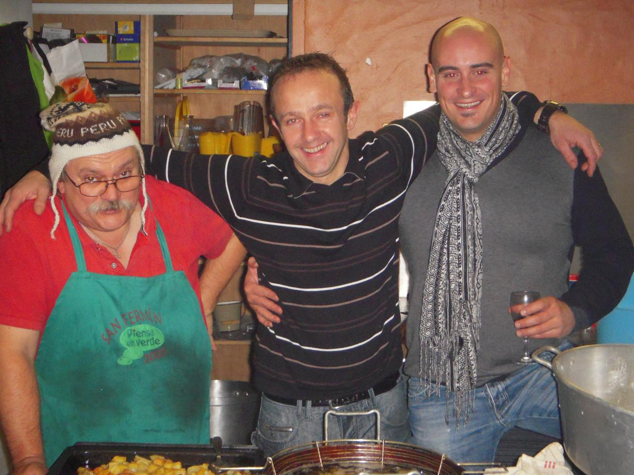 Basques avec l'ami Péruvien